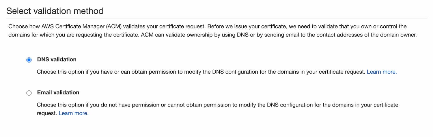 DNS Validation