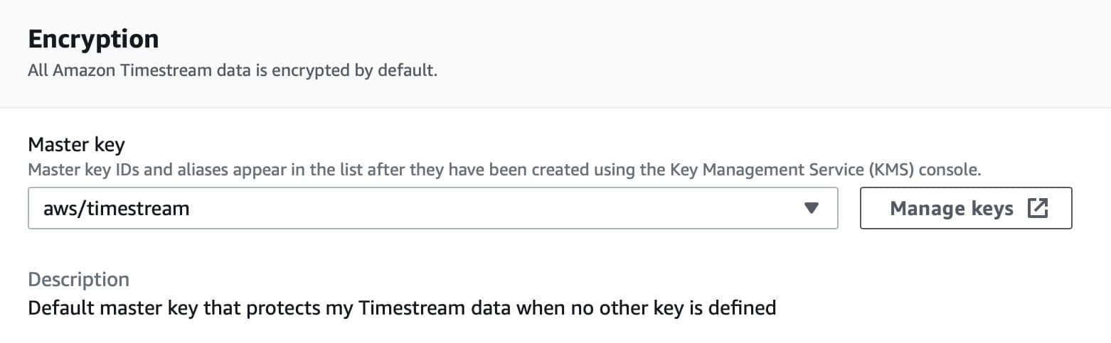 Select master key for encryption